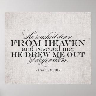 18:16 do salmo pôster