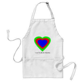 18 corações da cor você escolhe o design de U Avental