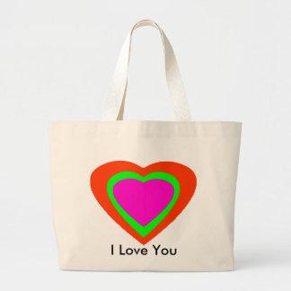 18 corações da cor você escolhe o design de U Bolsas De Lona