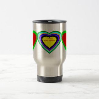 18 corações da cor você escolhe o design de U Canecas