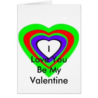 18 corações da cor você escolhe o design de U Cartao