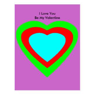 18 corações da cor você escolhe o jGibney do Cartão Postal