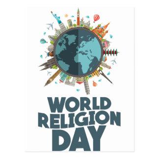 18 de janeiro - dia da religião do mundo cartão postal