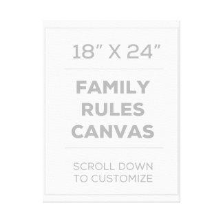 "18"" x 24"" família ordenam canvas"