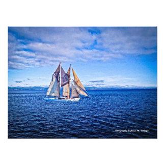 18 x 24 veleiros em um mar azul foto arte