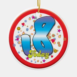 18o Aniversário hoje Enfeites Para Arvore De Natal