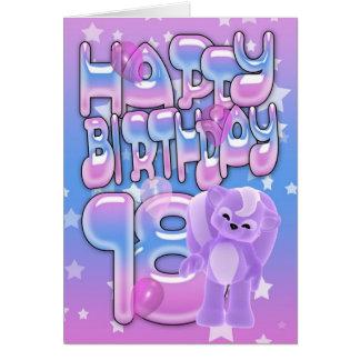 18o Cartão de aniversário bonito com jaritataca