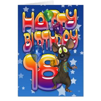 18o Cartão de aniversário, feliz aniversario