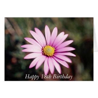 18o cartão feliz da flor do aniversário