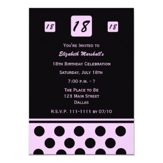 18o convite de aniversário - 18 modernos no rosa