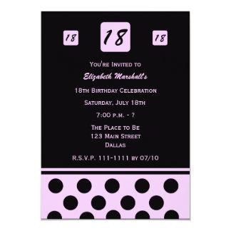 18o Convite de aniversário 18 modernos no rosa