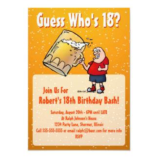 18o convite de aniversário engraçado com cerveja