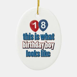 18o design do aniversário do ano enfeite para arvore de natal