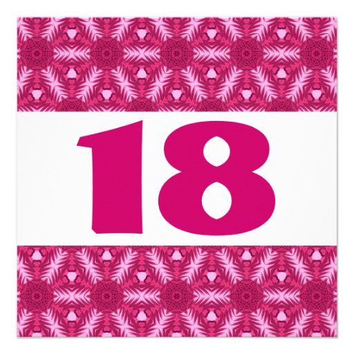 18o O rosa festivo da festa de aniversário floresc Convites