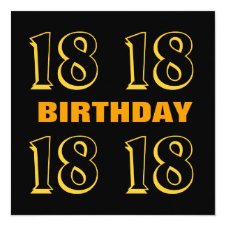 18o Ouro moderno do aniversário adolescente e Convite Quadrado 13.35 X 13.35cm