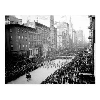 1905 5o cartão da parada da avenida NYC