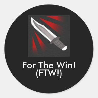 190, para a vitória! , (FTW!) Adesivo