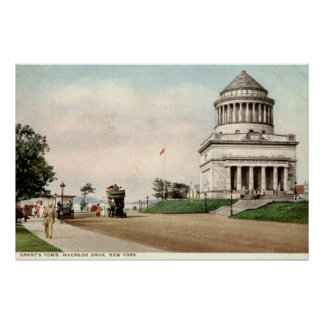 1912 o túmulo de Grant, movimentação do beira-rio, Poster