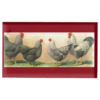 1913 galinhas: Plymouth Rock e Wyandotte de prata Suportes Para Cartões De Mesas