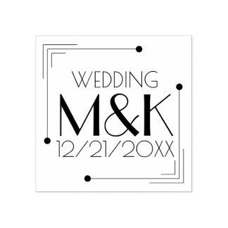 1920 do monograma do art deco que Wedding o Carimbo De Borracha