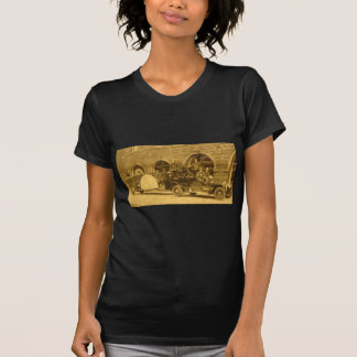 1920 Gancho do vintage e Escada Fogo Empresa Camisetas