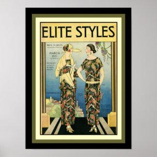 1923 impressão 12 x 16 da forma do art deco dos