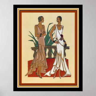 1925 impressão 16 x 20 da forma do art deco