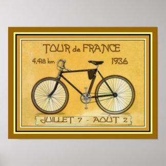 1936 poster 12 x 16 de Tour de France