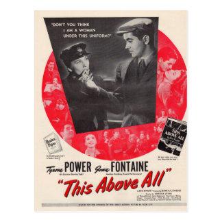 1942 este sobretudo cartaz cinematográfico cartoes postais