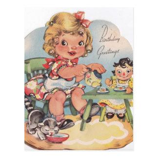 1948 cartões de aniversários cartão postal