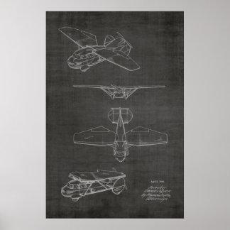 1949 impressões de voo do desenho da arte da