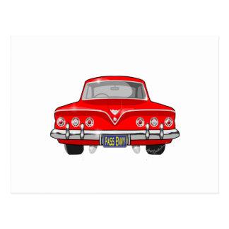 1961 vermelho Chevrolet Cartão Postal