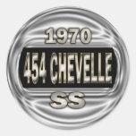1970 454 Chevelle SS Adesivos Redondos