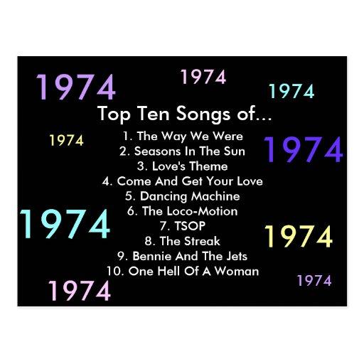 1974 canções cartões postais