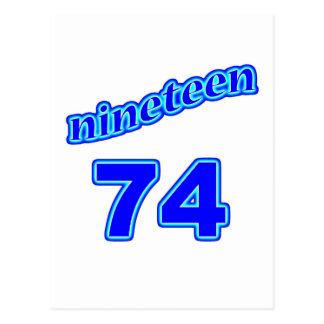 1974 dezenove 74 cartoes postais