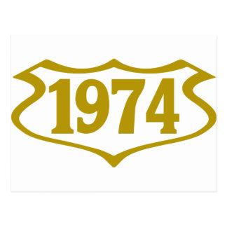 1974 shield png cartão postal