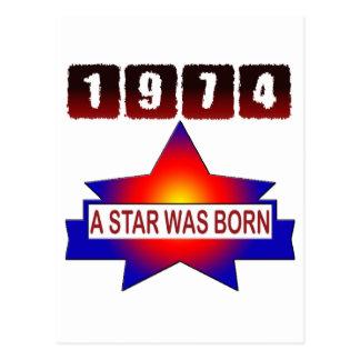 1974 uma estrela era nascida cartao postal