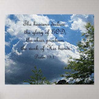19:1 do salmo os céus declaram a glória do deus poster