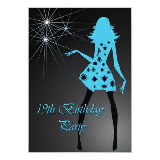 19o Convite do aniversário - dança da menina