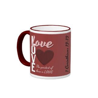 1 13:13 dos Corinthians uma caneca de café do
