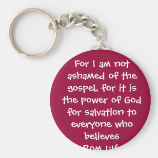 1 16 da ROM para eu não sou humilhado do evangelho Chaveiros