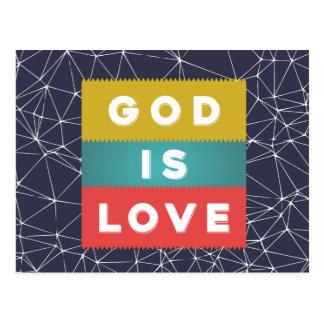 1 4:8 de John - o deus é amor Cartão Postal