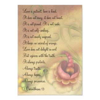 1 amor dos Corinthians 13 é mini impressões Convite 12.7 X 17.78cm