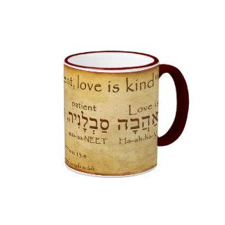 1 CANECA DO HEBRAICO DO 13:4 DOS CORINTHIANS