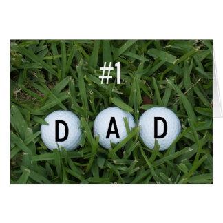# 1 cartão do dia dos pais do pai -- Bolas de