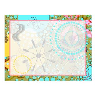 1 cartão floral retro cartões postais