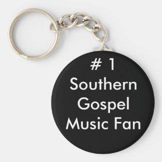 1 fan de música do sul do evangelho chaveiros