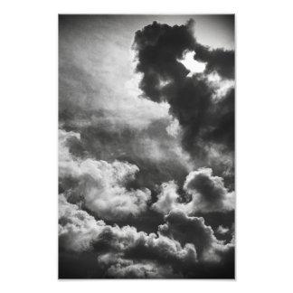 #1 intitulado (nuvens) impressão de foto
