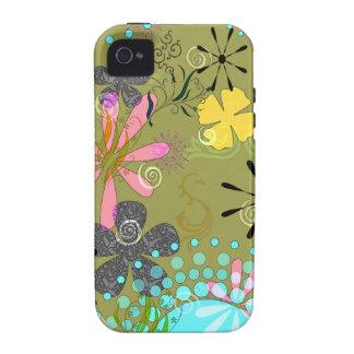 1 iPhone resistente floral retro 4 cobrir Capinhas Para iPhone 4/4S