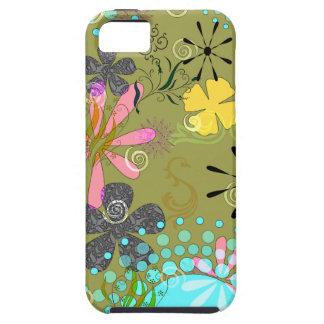 1 iPhone resistente floral retro 5 cobrir Capas Para iPhone 5